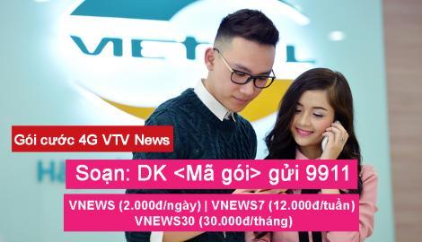 Gói cước 4G VTV NEWS đáp ứng nhu cầu cập nhật tin tức, xem chương trình truyền hình trên kênh VTV của Đài Truyền hình Việt Nam