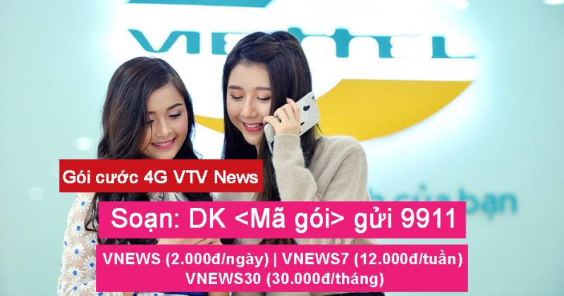 Viettel ra mat goi cuoc 4G VTV NEWS dap ung nhu cau khach hang duoc xem thong tin da noi dung, da linh vuc tren VTV.VN