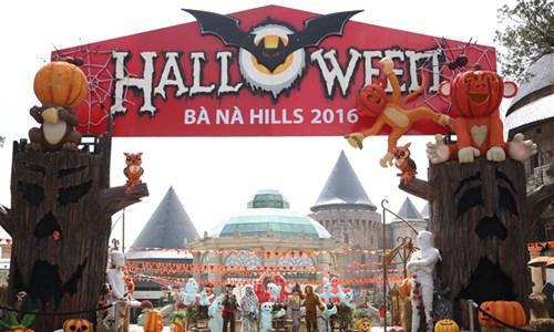 "An tuong Halloween ""Le hoi huyen bi- Ba Na Hills 2016""."